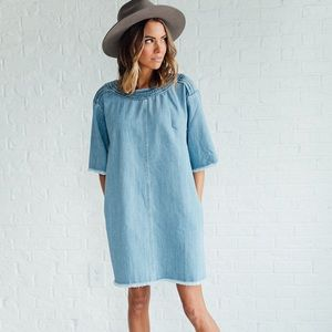 Clad and cloth denim dress