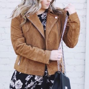 Jackets & Blazers - Forever 21 Genuine Suede Leather Jacket