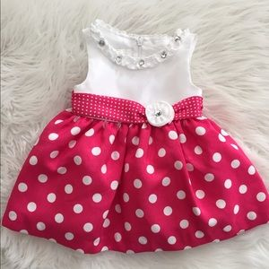 Pink Polka Dot Infant Dress *HP*