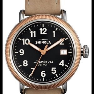 Shinola Accessories - Shinola Runwell Coin Edge Rose Gold 38mm Watch
