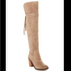 Franco Sarto Shoes - NWOT Franco Sarto Ellyn Over the Knee Boots Tan