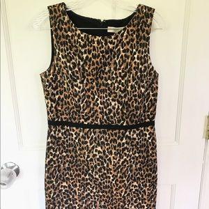 Loft leopard print shift dress