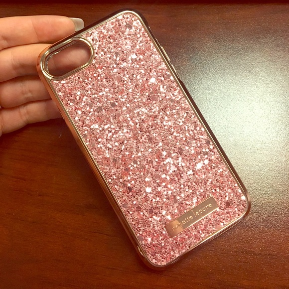 best service fad5b 8fa0e Nanette Lepore rose gold glitter iPhone case