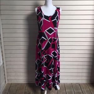 MSK Dresses & Skirts - MSK Geometric Print Midi Dress
