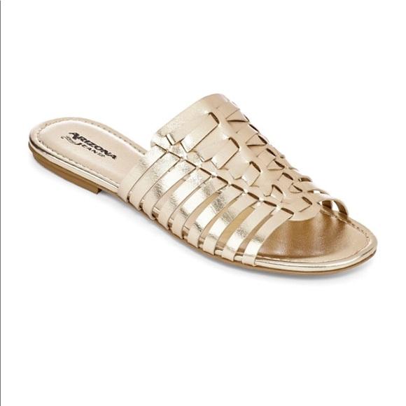 Qupid Shoes - 🇺🇸SALE🇺🇸 Platinum Gold Sandals