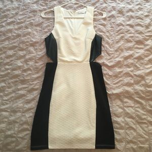 Lush (size M) fitted dress with size cut outs