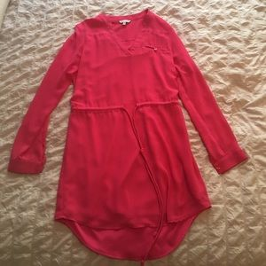 Pink long sleeve dress- worn once, size M