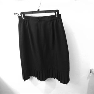 "Nordstrom brand skirt. Black Aline with 4"" pleat."