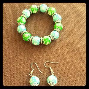 Angela Moore Jewelry - Angela Moore snowflake earring & bracelet set