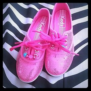 Keds Other - NWOT Pink Sequence Keds