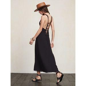 NWT Reformation Carletta Dress Black Size 4