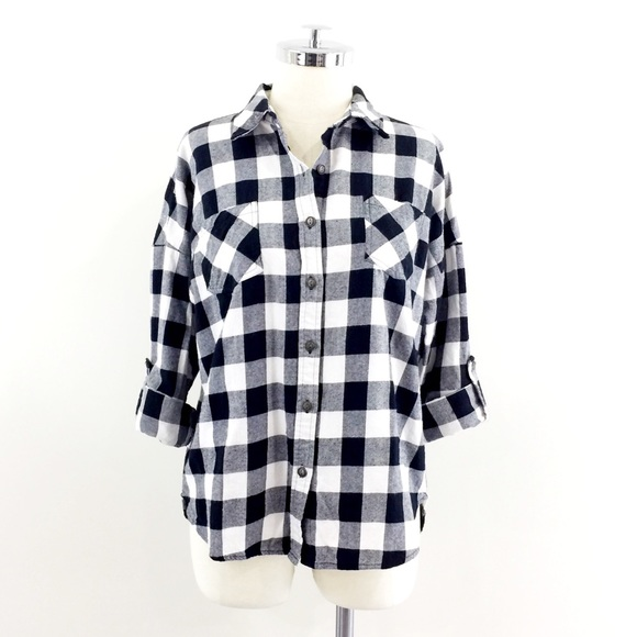 Swell swell black white buffalo check flannel shirt for Buffalo check flannel shirt