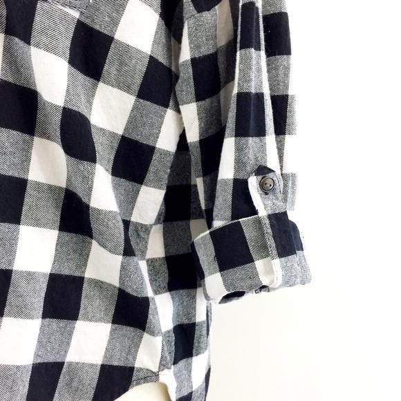 Swell Swell Black White Buffalo Check Flannel Shirt