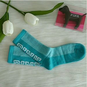 Brand new pink victoria's secret Crew socks.