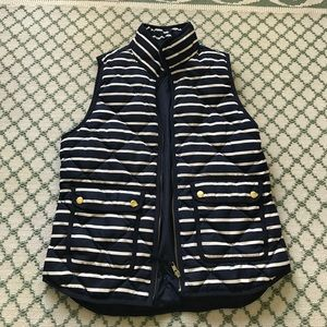 Jcrew striped puffer vest S