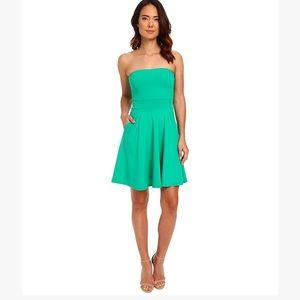 Susana Monaco Dresses & Skirts - Susana Monaco Brianne Green Strapless Pocket Dress