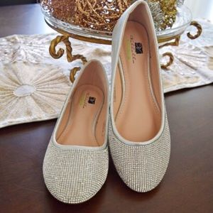Shoes - Silver Crystal flats size 7