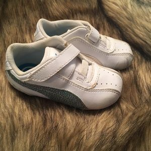 Other - White and Blue Pumas - toddler size 5