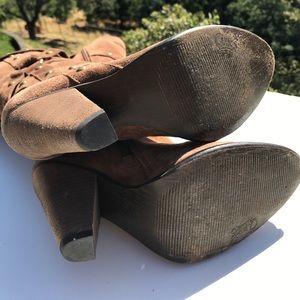 Carlos Santana Shoes - Carlos Santana Deseo Brown Suede Studded Boots
