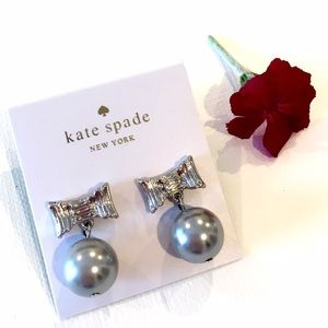 New Kate Spade All Wrapped Up Pearl Drop Earrings