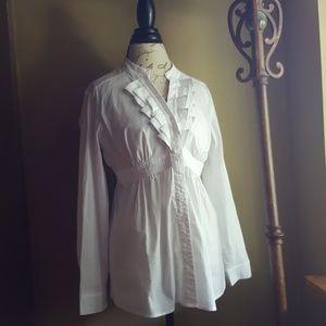 A Pea in the Pod Tops - A Pea in a Pod beautiful white button down shirt L