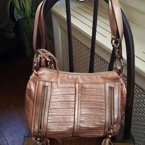 b. makowsky Handbags - LN. B. Makowsky Rose gold leather bag