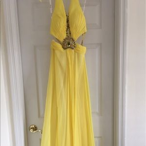 Tony Bowls Dresses & Skirts - Canary Yellow Evening Gown