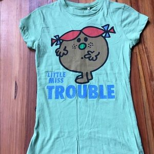 Little Miss Tops - NWT Little Miss Trouble Tee, size small