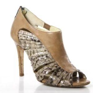 Alexandre Birman Shoes - ALEXANDRE BIRMAN SNAKE SKIN  ZIPPER BACK PUMPS SZ5