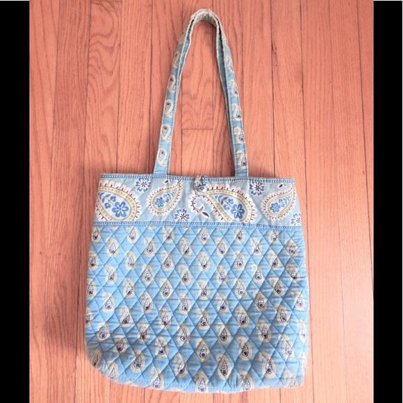 Vera Bradley Bags - Vera Bradley Bermuda Blue Paisley Tote Bag