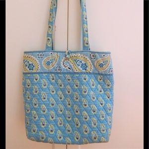 Vera Bradley Bermuda Blue Paisley Tote Bag