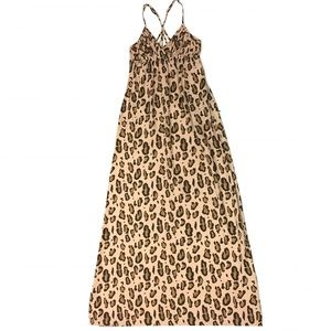 ARMANI EXCHANGE Animal Print Maxi Dress