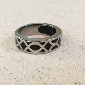 Other - Black Rhodium Stainless Steel Ring