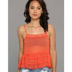 Free People Tops - NWOT FP Intimately Sheer Ruffle Cami size M