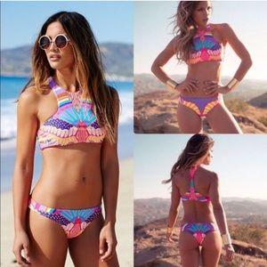 Other - LAST ONE! Multicolor High neck rainbow Bikini