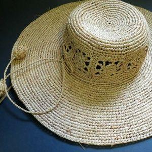 Kooringal 100% raffia beach sun hat adjustable