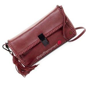  Elliott Lucca ✦ Leather Convertible Clutch ✦