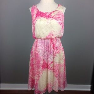 Anthropologie Post Mark silk/viscose dress
