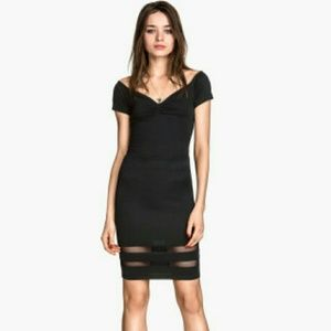 Black Mesh Bodycon Skirt