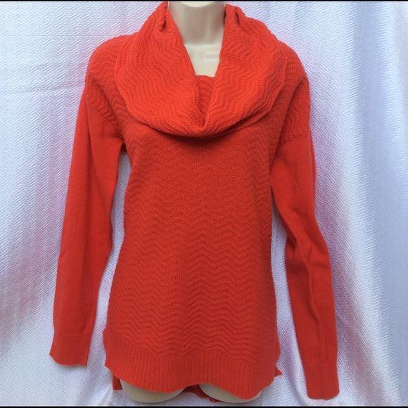 89th Madison Sweaters Orange Cowlneck Sweater Poshmark