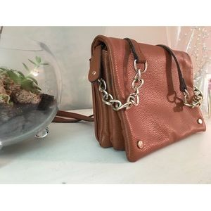 Francesca's brown small messenger bag