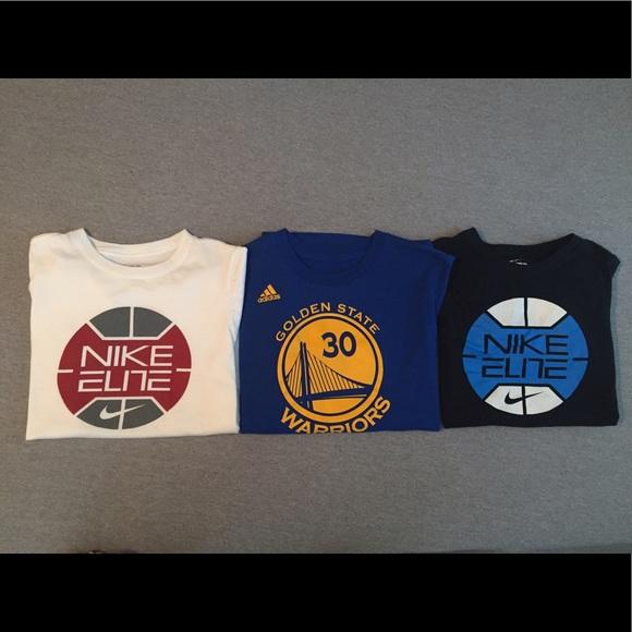 2fee2619 Nike Shirts & Tops   3 Boys Shirts Elite And Steph Curry Adidas ...