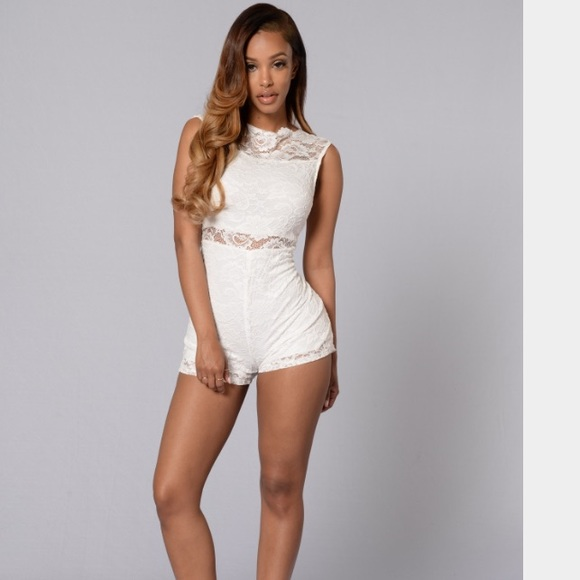 8d88b6115e6 Fashion Nova White Lace Romper