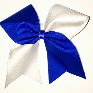 cheer bow Other - Custom Royal Blue & White Cheer Bow
