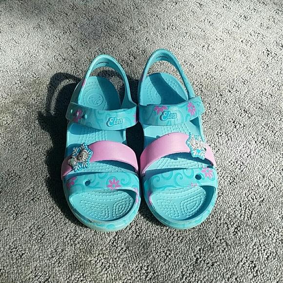 Crocs Shoes Like New Disney Elsa Size 13 Poshmark