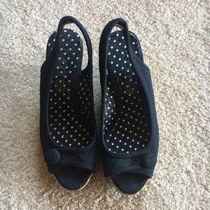 Shoes, Wedges Black Cloth Dreamer