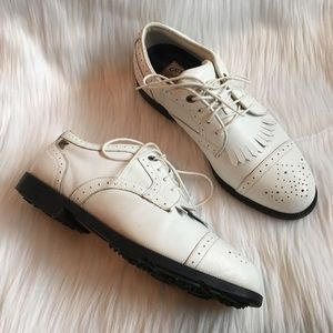 Cutter & Buck Other - Cutter & Buck White Leather Oxford Golf Shoes