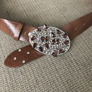Accessories - Rhinestone leather belt!