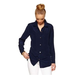 Lilly Pulitzer Tops - Lilly Pulitzer Isla button down silk shirt