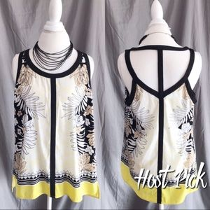 Adrianna Papell Tops - 🎉HP🎉 Adrianna Papell Caged A Line Tank Top L